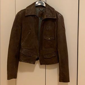 Banana Republic Classic Leather Brown Jacket (new)